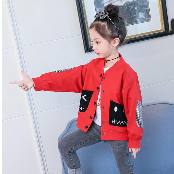 Girls Autumn Jacket New Style Little Kids Girl Coat Children's Clothing Spring and Autumn Thin Fashion Jacket Cool Sweatwear