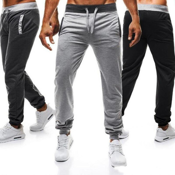 2019 2018 Mens Hip Hop Jogger Pants Drawstring Sports Joggers For Male Casual Daily Sweatpants Sport Pants Men Gym Rack Training Joggings From