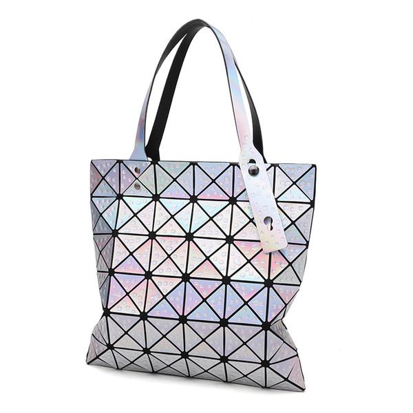 Sequins Mirror Geometric Water Drops Geometric Rhombus Tote Bags Shoulder Hand Bag Laser Sac Handbag