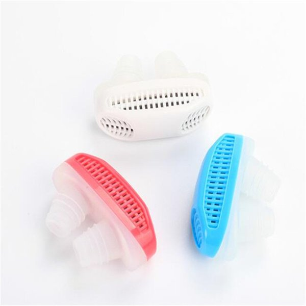 New 2in1 Anti Stop Snoring Snore Magnetic anti Silicone Snore Air Purifier Stopper Sleep Device Sleeping Health Care with Retail Box