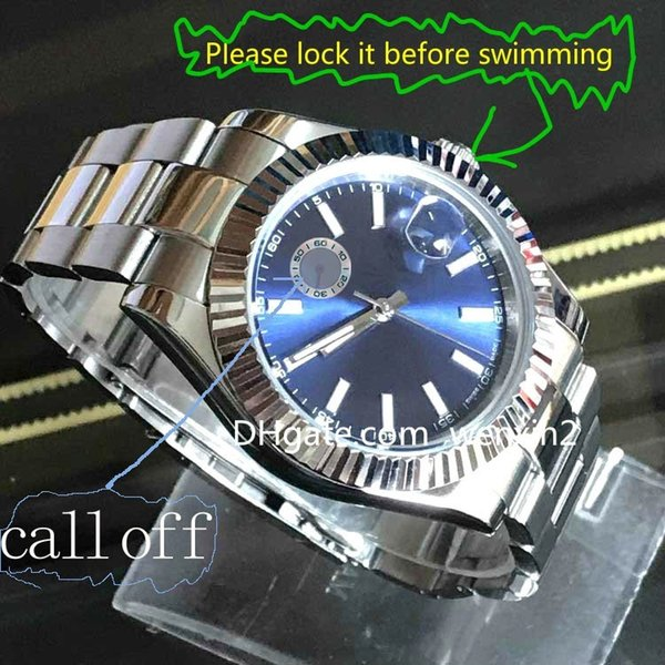 AAA 2018 New Style Rol Automatic Watch Men Oyster Blue Dial Stainless Band 126334 Fashion Watches