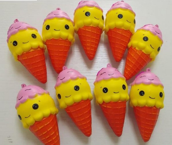 rare squishy 10cmcute ice cream squishy food model cell phone straps/bag charms toy wholesale 40pcs