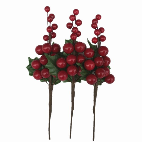2018 New Design 7.5 inch Artificial Bright Red Berry Holly Pick For Christmas Decorating *Free Shipping*