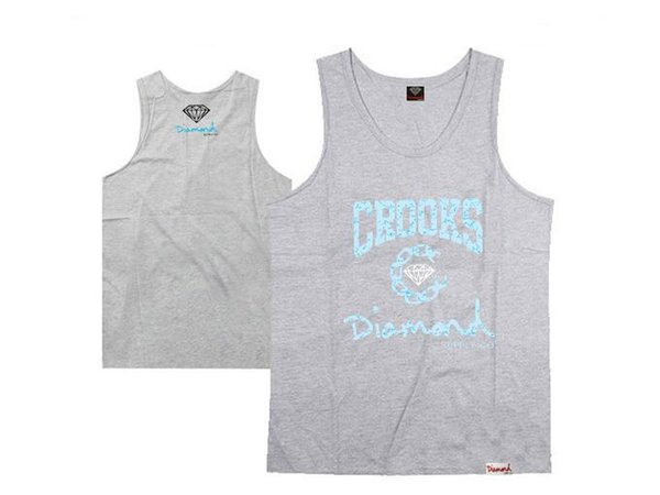 diamond supply co tank tops muscle brand new 2016 hip hop tank tops men's sleeveless vest free shipping hiphop shirt
