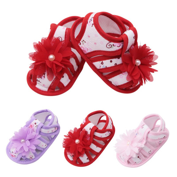 Summer Baby Shoes Princess Floral Hollow Sandals Children Shoes Sandals Baby Print Flower