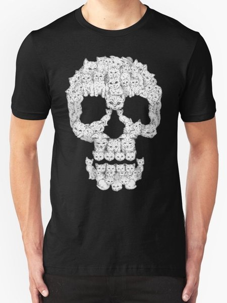 New Skulls are for Pussies Men's T-Shirt Size S - 2XLCool Casual Sleeves Cotton T-Shirt Fashion