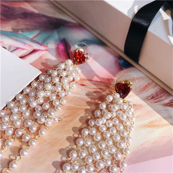 Freshwater Pearls Tassels Drop Earrings For Women S925 Sterling Silver Needles Long Vintage Luxury Temperament Fine Jewelry