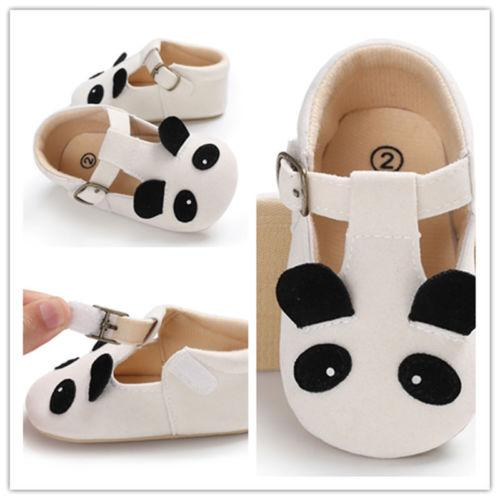 f3204e174942ba Emmababy Infant Soft Sole Silica Newborn gel Leather Baby Shoes prewalker  Panda