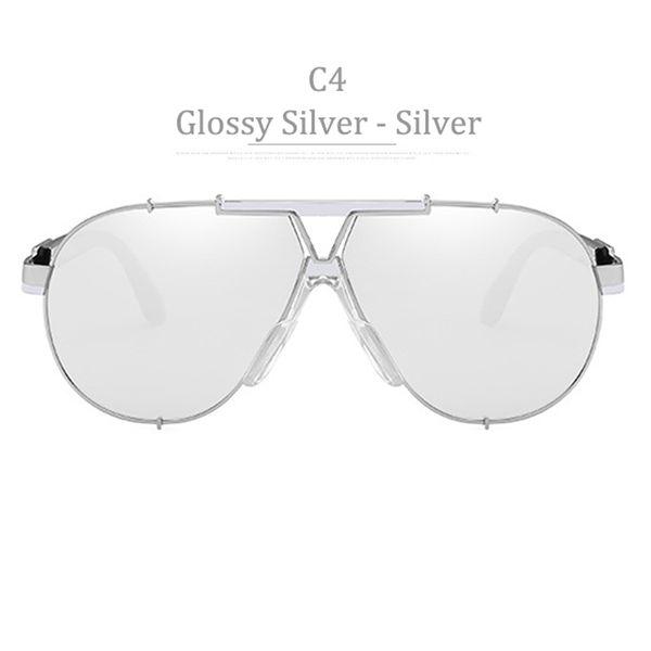 C4 Golssy Silver Frame Silver Miror