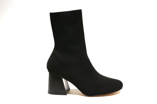 New Designer Brand Mid-calf slip-on mid Womens Boot Fall Winter nubuck leather show Party Fashion Boots Female