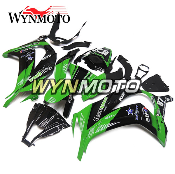 Fit For Year 2011 12 13 14 2015 Kawasaki ZX10R ABS Injection Fairing Green Black Complete Fairings Body Frames Cowlings