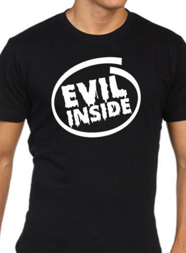 Mens drôle t-shirt mal à l'intérieur de goth rock punk