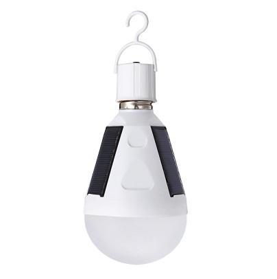 La energía solar llevó el bulbo 12W llevó el panel solar de la lámpara Rechargeale incorporada El panel solar interior al aire libre llevó luces de emergencia del bulbo