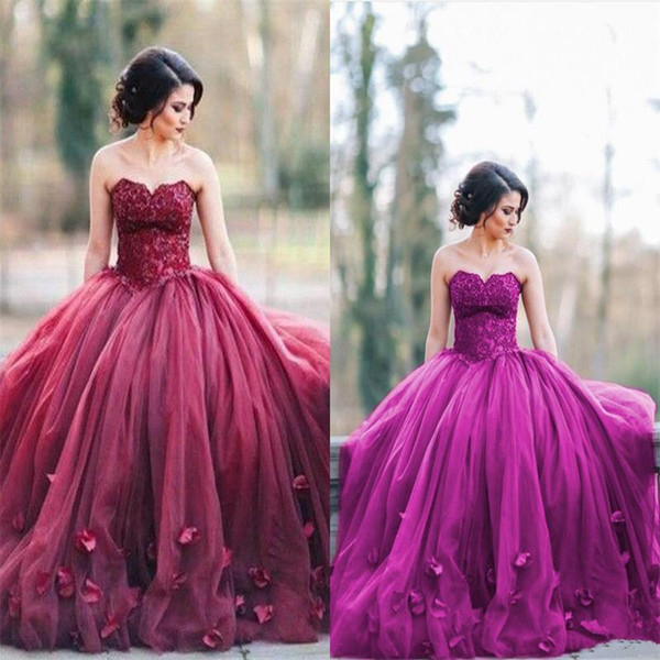 Dark Red Prom Dresses Sweetheart Sequins Applique Tulle Sleeveless Floor  Length Plus Size Evening Bridesmaid Pageant Ball Gowns Prom Dress Stores In  ...