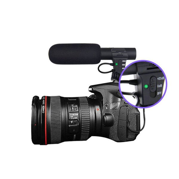 MIC-05 Stereo-Camcorder-Mikrofon für Nikon Canon DSLR-Kamera Computer Handy PC-Mikrofon für Smartphone Interview Video Mikrofon