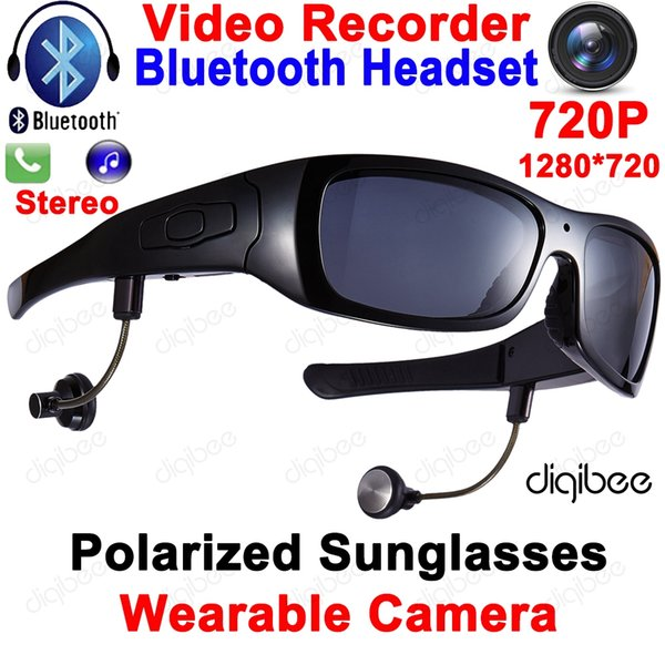 Cool Smart Polarized Sunglasses Bluetooth Headset with Microphone Glasses Camera HD 720P Digital Video Recorder OTG Mini DV DVR
