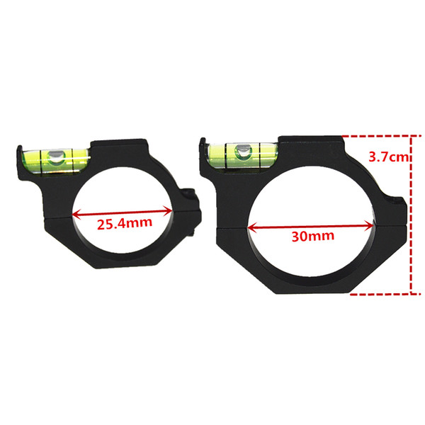 """Tactical Rifle/Airgun Spirit Level Riflescope Bubble level for 1"""" or 30mm Hunting Gun Scope Tube in Scope Mounts accessories"""