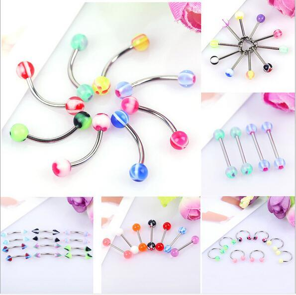 New Arrival boby jewelry Nose Hoop Nose Rings Body Piercing Jewelry 6 style Acrylic stainless steel Nose Rings