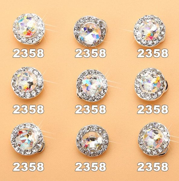 360 Degree Rotatable Nail Rhinestones 3D Diamond Design Crystal Transfer Beads Jewelry Decoration 20pcs