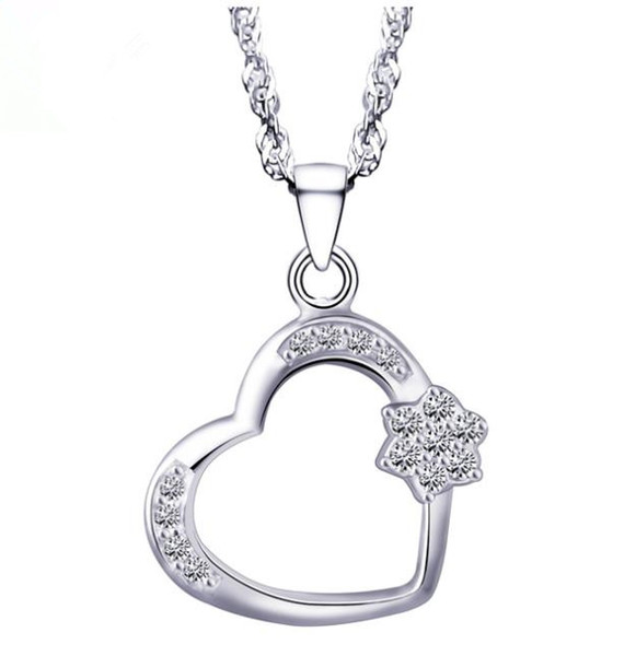 Jewelry fashion s925 sterling silver necklace women LOVE HEART necklace pendant