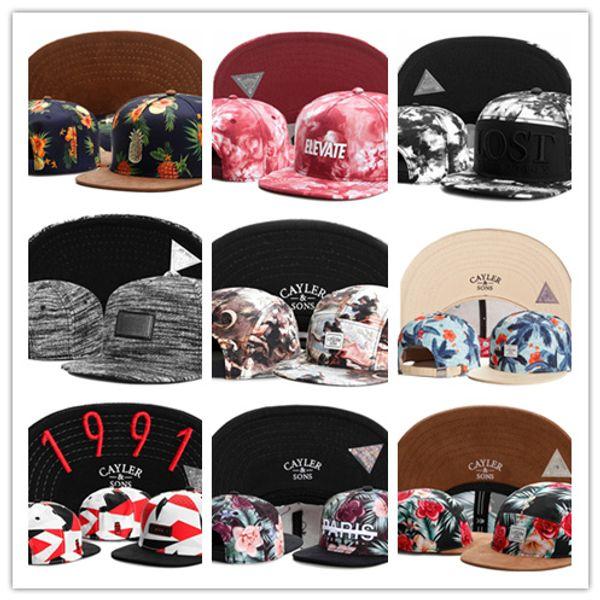 Top Fashion summer Snapbacks Hat free shipping cayler and sons snapback hats snapbacks caps snap back Adjustable hat baseball basketball