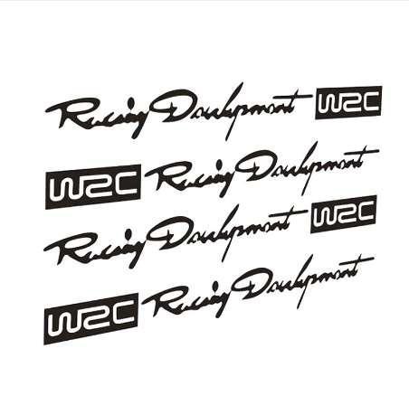 12 * 2 CM WRC Rally Pegatinas de Coches Simon Mango Mango Reflectante Personalidad Etiqueta Calcomanía CT-329