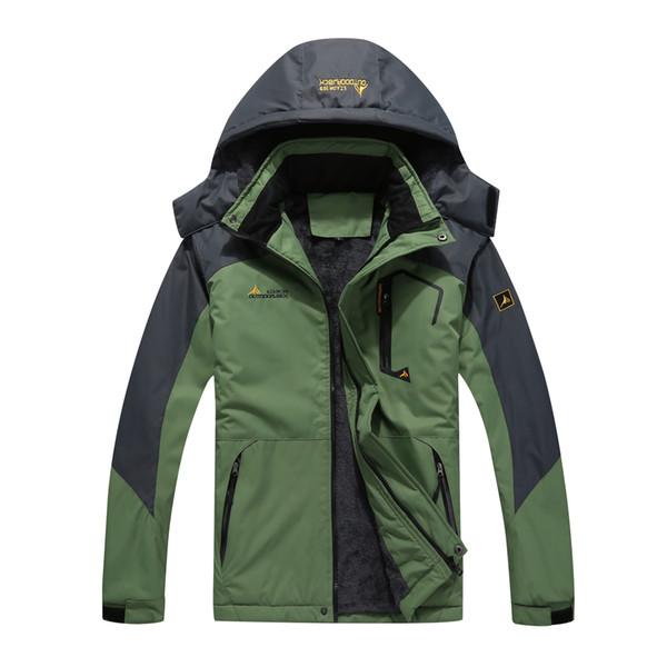 Men's Large Size Winter Inner Fleece Waterproof Jacket Mountain Ski Jacket Outdoor Sport Hiking Camping Trekking Skiing Coat