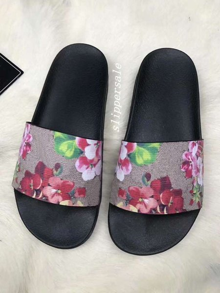 mens and womens Trek flower Floral blooms print Slides sandals flip flops with thick rubber sole size euro 36-45