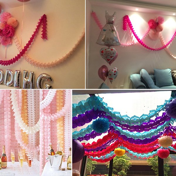 New 36m Four Leaf Clover Paper Garlands Party Wedding Performance Home Decoration Beautiful Children Home Style Household Outdoor Wedding Decorating