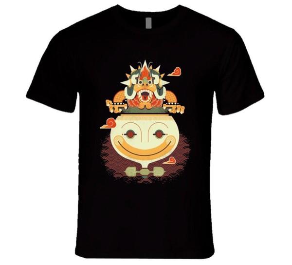 aztec bowser, mexican gamer mario bross design T Shirt Mens 2018 fashion Brand T Shirt O-Neck 100%cotton T-Shirt Tops Tee custom