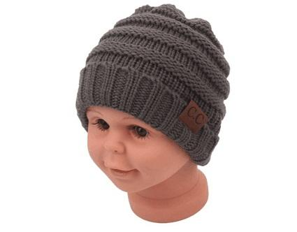 top popular 2018 fashion kids winter keep warm cc beanie Labeling hats Wool knit skull designer hat outdoor sports caps for baby children kid 2019