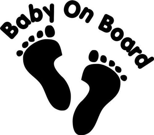 Footprint Car Sticker Vinyl Car Packaging Personalized Decorative Applique Footprints Shaped Baby