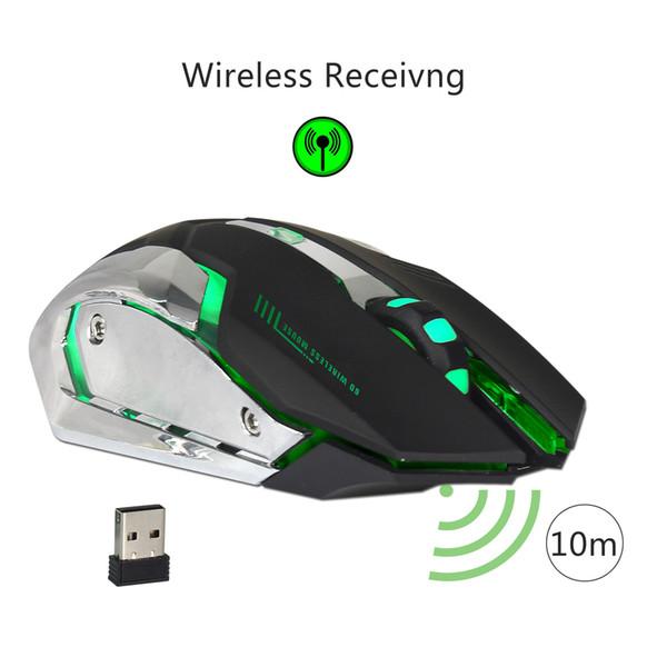 Wireless Gaming Mouse 2400dpi Wiederaufladbare 7 Farbe Hintergrundbeleuchtung Atemkomfort Gamer Mäuse Für Computer Desktop Laptop