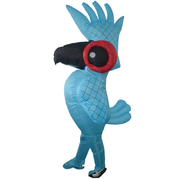Inflatable Rio Blue Parrot Halloween Costume Cartoon Animal Mascot Costume Parrot Clothes Adult Children Halloween Party Costumes