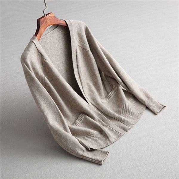 new fashion women sweet braid weave pattern double pockets deco long sleeve cardigan female casual knitted  sweater outwear