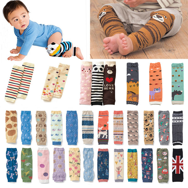 Animal Patterns Cotton Baby-Gamaschen Unisex Baby-kriechende Knie-Pads mit Kleinnette warmem Baby-Beine-Wärmer 18080901 Verpackungs