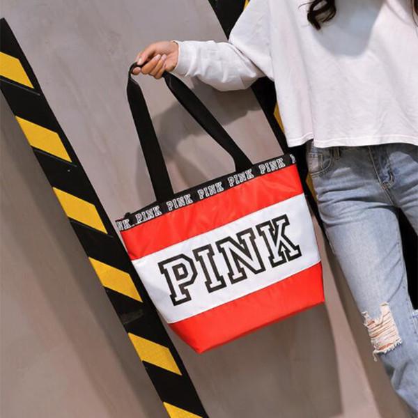 Borsa a tracolla lettera rosa borse da donna fashion designer borse tote impermeabile shopping borse a mano 19 stili 8pcs