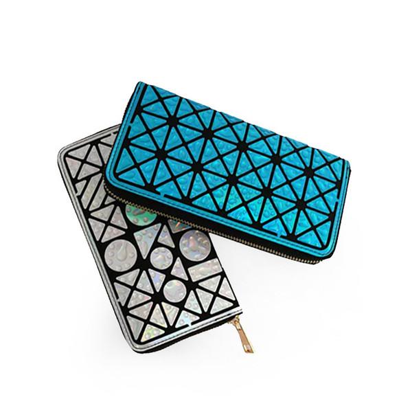 New irregular raindrop long wallet fashion ladies wallet geometric rhombic folding change small square bag ladies handbag free shipping