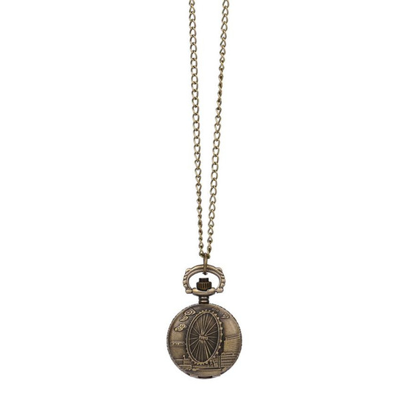 Moment # L02 2018 Fashion Antique Brass Vintage Steampunk Retro Bronze Design Pocket Watch Quartz Pendant Necklace Gift