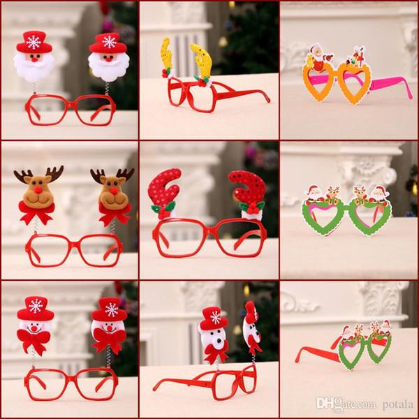 Noel Gözlük Noel Baba Elk kardan adam Türleri Yenilik Yaratıcı Gag Oyuncaklar Parti Malzemeleri Türkiye Şekiller çerçeve sahne Noel dekorasyon Komik