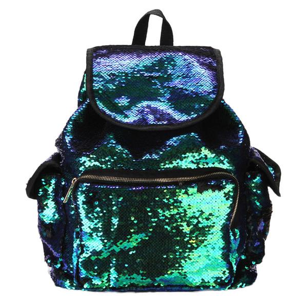 Women Fashion School Style Sequins Travel Satchel School Bag Backpack Bag lady Girls Molle Fashion Backpack sac