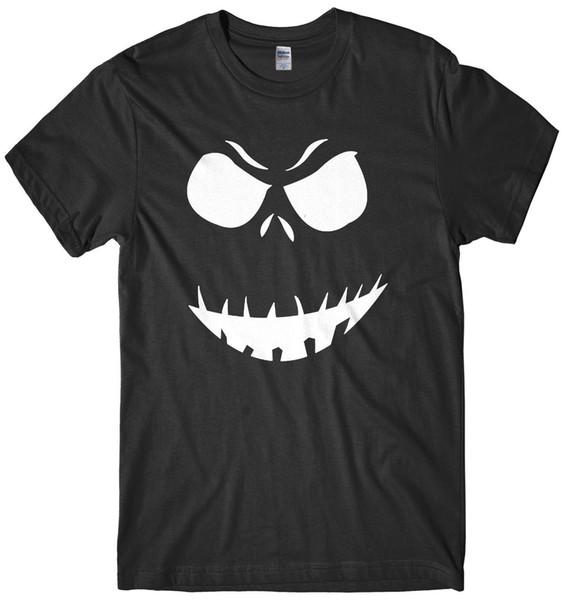 Halloween Evil Pumpkin T-Shirt Mens white