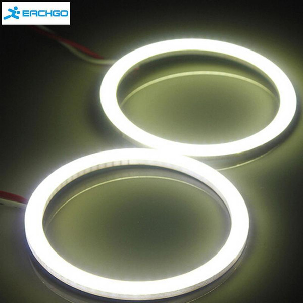 1 Unids Coche 12 V COB LED CCFL Halo Anillos Angel Eyes DRL Luz Antiniebla Lámpara Blanca