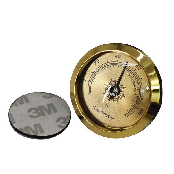Precisão Charuto Higrômetro Preciso Portátil Mini Higrômetros Mecânicos Humidor Rodada Acessórios Detector de Umidade Para Charutos