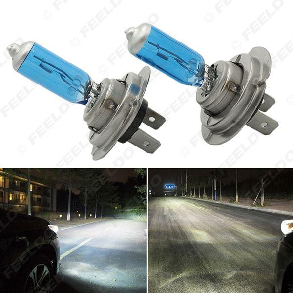FEELDO 2PCS H7 55W/100W 12V Super White Fog Lights Halogen Bulb Car Headlights Lamp Car Light Source Parking #2029