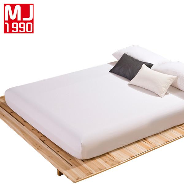 Hot 100% Polyester Spannbetttuch Matratzenbezug Einfarbig Bettwäsche Bettwäsche Bettwäsche Mit Gummiband 160x200 cm Doppel Größe 1 Stücke