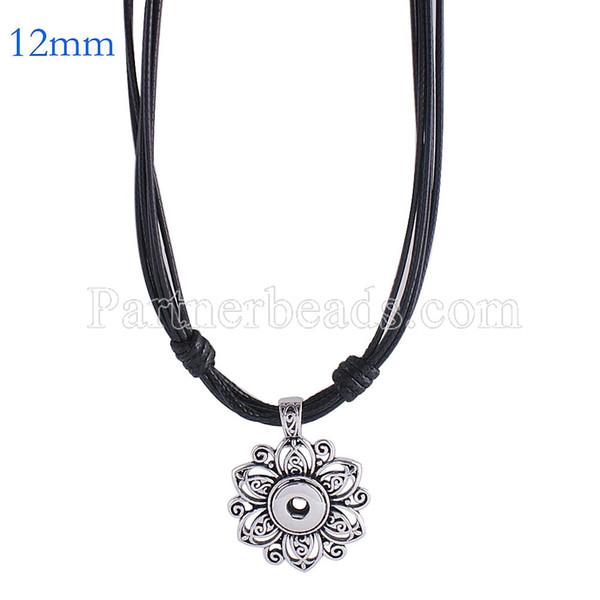 New Fashion Metal Snap Collana snap gioielli fit 12mm mini bottoni gioielli all'ingrosso collana di fascini per le donne KS0982-S