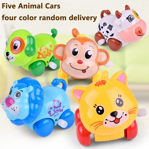Wind-up Animal Car Toy for Kids Toys Vehicles Friction Powered Cars Toddler Best Gift for Boys & Girls Set of 5 Cute Cartoon Creature