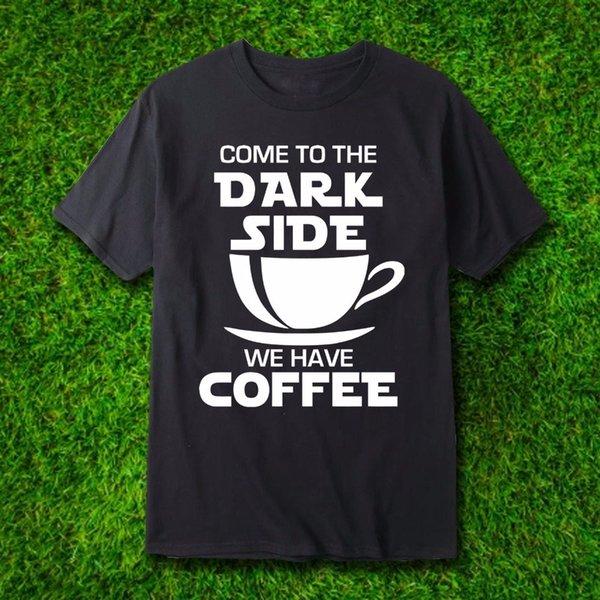 Çılgın T Shirt Ekip Boyun Koyu Yan Komik Kahve Tasarım T Shirt Kısa Tasarım T Shirt Erkekler Için