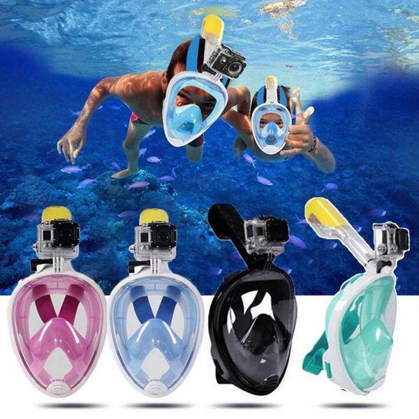 Hot Sale Summer Underwater Diving Mask Snorkel Set Swimming Training Scuba mergulho full face snorkeling mask Anti Fog No Camera Stand